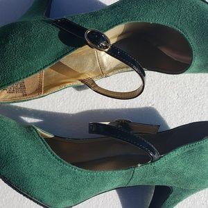 NWOB Merona heels strap buckle suede size 6.5